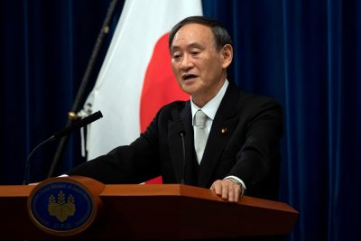 Yoshihide Suga speaks during a news conference following his confirmation as Prime Minister of Japan in Tokyo, Japan, 16 September 2020. (Photo: Reuters/Carl Court)