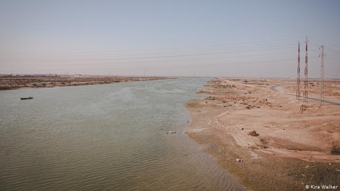Parched waterway, Basra, Iraq