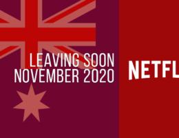 Movies & TV Series Leaving Netflix Australia in November 2020
