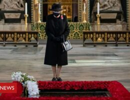 Queen wears face mask as she marks Unknown Warrior centenary