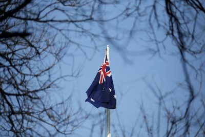 An Australian flag is pictured at its embassy in Beijing, China 24 January, 2019 (Photo: Reuters/Jason Lee).