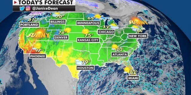 The national forecast for Thursday, Nov. 5, 2020.