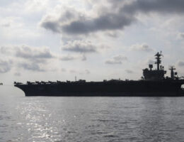 Aircraft Carrier USS Nimitz Arrives Off The Coast Of Somalia