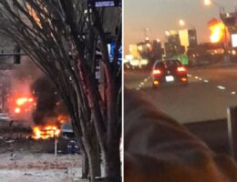 BREAKING: Massive Explosion in Downtown Nashville on Christmas Morning, Possible Car Bomb (VIDEO)