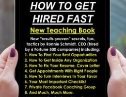 """How To Get Hired Fast"" New Teaching Book Launched By Marketing Consultants Group, LLC Author CEO Ronnie Schmidt"