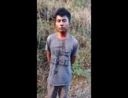 """Aguililla, Michoacán: CJNG Interrogates """"El Guache"""" of Knights Templar Cartel"""