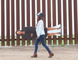 Cardboard Cut Out Of Kamala Harris Makes It To The Southern Border Before She Does