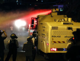 Israeli police attack Palestinian protesters Sheikh Jarrah Middle East News