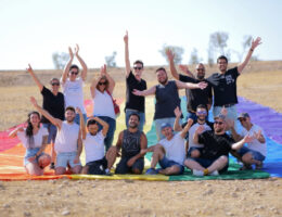 Middle East's largest LGBT pride flag rolled out in Beersheba