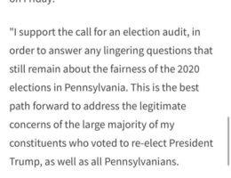 """PA STATE SENATOR DAVE AGRALL: """"I Support The Call For An Election Audit – This is the Best Path Forward"""""""