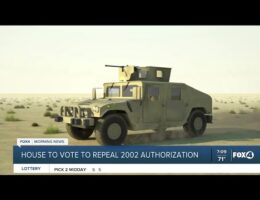 US House Of Representatives Repeal The 2002 War Authorization Act. Bill Now Moves To The US Senate