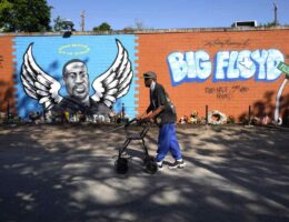 A George Floyd Mural Collapses and the Reason Is Something