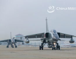 Chinese Fighter Bombers Practice Implementing A Maritime Mine Blockade Around Taiwan