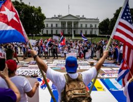 Cuban Protesters Converge on White House, Demand Stronger Biden Action
