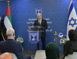 Israeli foreign minister opens UAE Embassy: 'The Middle East is our home, we're here to stay'