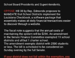 Louisiana's Democrat Governor Opposes School Board Transparency