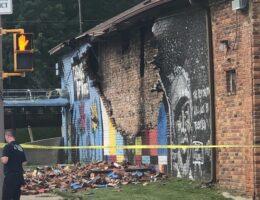 Mural Honoring George Floyd in Toledo, Ohio Destroyed by Lightning Strike
