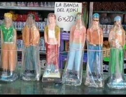 Religious Statuettes Branded as El Koki for Sale in Caracas