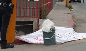 Tijuana, Baja California: Narco Tarps And Human Remains Abandoned