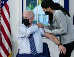 A Rambling Joe Biden Gets a Vaccine Booster on Camera and Chucks the Goalposts Into the Sea