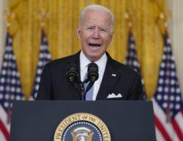 A Yelling, Defiant Joe Biden Declares Victory in Afghanistan and Blames Americans for Being Left Behind