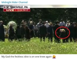 After Walking Like a Robot in Pennsylvania Field, Biden Gets On One Knee Like an Idiot