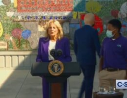 Biden Wanders Off as Jill Biden Delivers Remarks on Vaccines at DC Middle School (VIDEO)