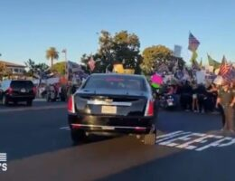 Biden's Motorcade Booed by Huge Mob of Trump Supporters at Long Beach City College (VIDEO)
