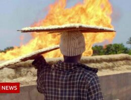 Life at 50C: The toxic gas flares fuelling Nigeria's climate change