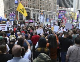 Mass Protest in NYC Over Vaccine Mandates