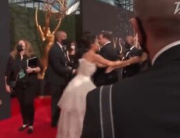Only 'Hired Help' Required to Wear Face Masks at Emmys While Celebrities Hug and Kiss Each Other (VIDEO)