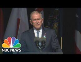 President Bush Speaks At Shanksville 9/11 Ceremony