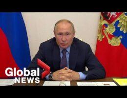 Russian President Putin Self Isolating Over Inner Circle Coronavirus Cases
