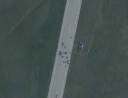 Satellite Photo Reveals Wreckage Of B-2 Stealth Bomber After Its Landing Gear Collapsed