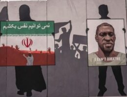 Taliban Paint Over George Floyd Mural in Kabul with Victory Slogans