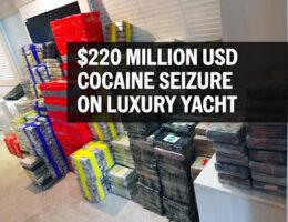 UK Cocaine Drug Bust, Multimillion Dollar Yacht Sailing From The Caribbean