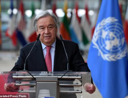 UN Chief Says Countries Must Work To Avoid Breakdown Of Global Order