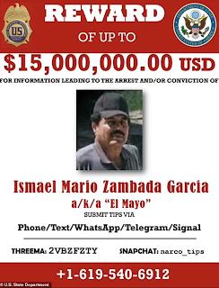 US Reward for El Mayo is Tripled to $15 Million USD