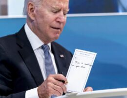 'Weak and Incompetent' Biden Busted With 'Cheat Sheets' Again During Louisiana Trip