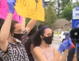 "WOW: Nicki Minaj Fans Protest Outside CDC HQ in Atlanta, Chant ""Fauci Lied to Me!"" (VIDEO)"