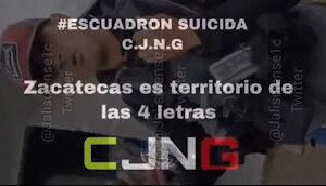 Zacatecas: Cartel Jalisco Enforcers Mock The Fallen Grupo Flechas Gunmen