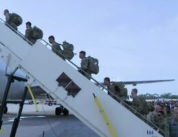 450 Florida National Guard Begin Deployment On Mission To The Middle East