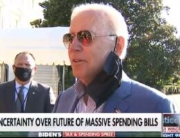 Another Brain Fart: Joe Biden Loses Himself in Thought as Facemask Dangles (VIDEO)