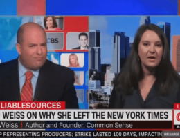 Bari Weiss Becomes All of Us in Debate With Brian Stelter Over Media Censorship