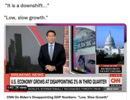 Biden's Economic Crisis Continues As Third Quarter GDP Growth Comes In At A Disappointing 2%