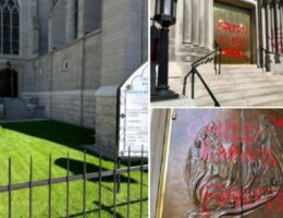 Catholic Cathedral in Colorado Vandalized With 'Satan Lives Here' (VIDEO)