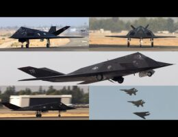 F-117 Nighthawk Stealth Fighters In Action (Video)