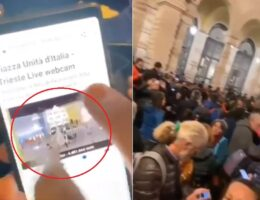 INCREDIBLE: Italian City Disappears THOUSANDS of Anti-Green Pass Protestors on City LIVE-STREAM VIDEO!