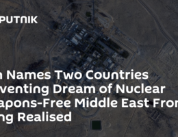 Iran Names Two Countries Preventing Dream of Nuclear Weapons-Free Middle East From Being Realised