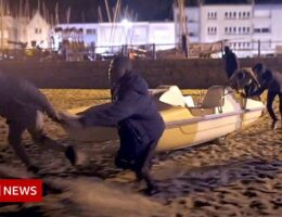 Migrants risking death trying to get to England in a pedalo